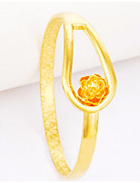 cheap -Women's Bangles Asian Lovely Fashion Gift Gold Plated Jewelry For Wedding Daily