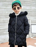 Boys' Solid Patchwork Down & Cotton Padded,Polyester Winter