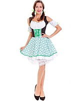 cheap -Oktoberfest/Beer Cosplay Costumes Female Halloween Christmas Carnival Oktoberfest New Year Festival / Holiday Halloween Costumes White