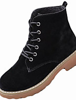 cheap -Women's Shoes Rubber Winter Combat Boots Boots Round Toe For Outdoor Dark Brown Green Black
