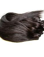 Недорогие -Бразильские волосы Прямой силуэт Ткет человеческих волос 3шт 0.15