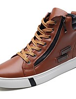 cheap -Men's Shoes PU Spring Fall Comfort Sneakers For Casual Blue Brown Black