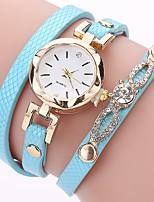 Women's Casual Watch Fashion Watch Bracelet Watch Simulated Diamond Watch Chinese Quartz Imitation Diamond PU Band Casual Bohemian Black