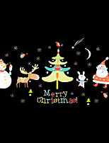 cheap -Animals Christmas Fashion Wall Stickers Plane Wall Stickers Decorative Wall Stickers,Vinyl Material Home Decoration Wall Decal
