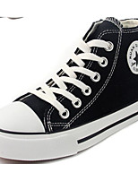 cheap -Boys' Shoes Canvas Spring Fall Comfort Sneakers Walking Shoes Lace-up for Casual White Black Red