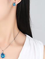 cheap -Women's Drop Earrings Pendant Necklaces Cubic Zirconia Rhinestone Simple Vintage Elegant Wedding Evening Party Silver Cubic Zirconia
