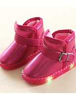 cheap -Girls' Shoes Leatherette Winter Fall Comfort Snow Boots Boots Walking Shoes Booties/Ankle Boots Buckle For Casual Pink Red Black