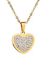 abordables -Mujer Corazón Corazón Gargantillas Cristal Gargantillas ,