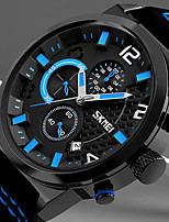 Men's Casual Watch Sport Watch Chinese Quartz Chronograph Rubber Band Casual Elegant Christmas Black