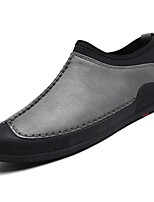 Men's Shoes PU Spring Fall Comfort Loafers & Slip-Ons For Casual Gray Black
