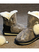 Boys' Shoes Real Leather Fall Winter Comfort Snow Boots Boots For Casual Khaki Black