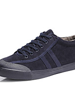 cheap -Men's Shoes Leatherette Spring Winter Fluff Lining Comfort Sneakers For Casual Office & Career Dark Brown Dark Blue Black