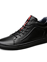 cheap -Men's Shoes Real Leather Leatherette Winter Fall Comfort Sneakers for Casual Black
