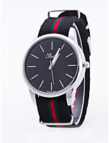 Men's Women's Quartz Nylon Band Black White
