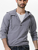 cheap -Men's Daily Going out Hoodie Solid Hooded Micro-elastic Cotton Long Sleeves Winter Fall