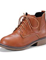 Недорогие -Для женщин Обувь Дерматин Зима Удобная обувь Ботинки Круглый носок Ботинки Назначение Для праздника Для вечеринки / ужина Черный Серый
