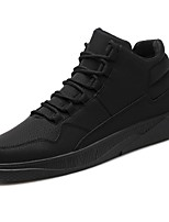 cheap -Men's Shoes PU Spring Fall Comfort Sneakers For Casual Red Gray Black