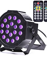 U'King Lampe LED de Soirée DMX 512 Master-Slave Activé par son Télécommande 18 pour Extérieur Soirée Boîte de Nuit Professionnel Haute