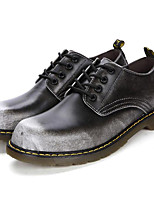 Men's Shoes Nappa Leather Fall Winter Comfort Oxfords For Casual Party & Evening Brown Gray Black