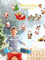 Navidad Pegatinas de pared Soportes de Regalos Calcomanías Decorativas de Pared,No Tejida Material Decoración hogareña Vinilos decorativos