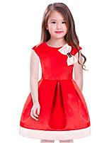 Girl's Solid Dress,Cotton Polyester Short Sleeves