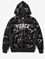cheap -Men's Going out Hoodie Print Cotton