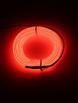 BRELONG 3m DC 12V  EL LED Neon Cold Strip Light Round line - BATTERY CASE  no battery