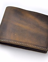 cheap -Men Bags Cowhide Wallet Zipper for Casual All Season Brown