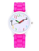 Women's Fashion Watch Dress Watch Wrist watch Chinese Quartz Silicone Band Vintage Casual Black White Blue Red Pink Fuchsia Purple Sky