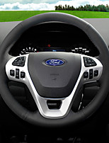 cheap -Automotive Steering Wheel Covers(Leather)For Ford All years Fiesta Ecosport