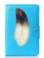 cheap -Universal Feathers PU Leather Stand Cover Case For 7 Inch 8 Inch 9 Inch 10 Inch Tablet PC