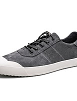 cheap -Men's Shoes Real Leather Pigskin Spring Fall Comfort Sneakers For Casual Khaki Gray Black