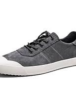 Недорогие -Для мужчин обувь Натуральная кожа Свиная кожа Весна Осень Удобная обувь Кеды Назначение Повседневные Черный Серый Хаки
