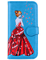 cheap -Case For Samsung Galaxy S8 Plus S8 Wallet Flip Magnetic Embossed Pattern Full Body Sexy Lady Dandelion Hard PU Leather for S8 Plus S8 S7
