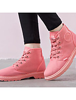 cheap -Women's Shoes Fabric Spring Fall Comfort Combat Boots Boots For Casual Red Black White