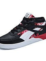 cheap -Men's Shoes PU Spring Fall Comfort Sneakers For Casual Black/Red Black/White
