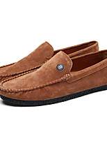 Men's Shoes Cowhide Suede All Season Driving Shoes Comfort Loafers & Slip-Ons Walking Shoes For Casual Khaki Light Yellow Gray Black