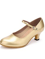 "cheap -Women's Modern Leather Heel Indoor Pearlised Customized Heel Gold 2"" - 2 3/4"" Customizable"