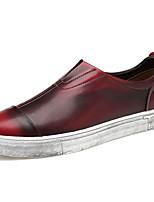 Для мужчин обувь Полиуретан Осень Зима Удобная обувь Мокасины и Свитер Назначение Повседневные Серый Коричневый Винный