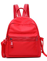 Women Bags All Season Oxford Cloth Backpack Zipper for Casual Office & Career Black Blushing Pink Red