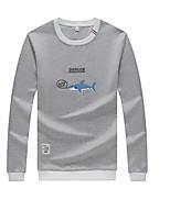 Men's Daily Sweatshirt Print Cotton