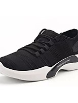 cheap -Men's Shoes Tulle Spring Fall Comfort Sneakers For Casual Gray Black White