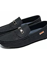 Men's Shoes Cowhide Spring Fall Moccasin Loafers & Slip-Ons For Casual Khaki Yellow Black