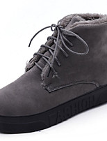 cheap -Women's Shoes Nubuck leather Winter Combat Boots Boots Round Toe For Outdoor Army Green Gray Black