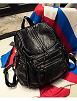 Women Bags PU Backpack Zipper for Casual All Season Black Blushing Pink