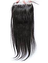 Недорогие -4x4 кружево закрывает прямые человеческие волосы для женщин