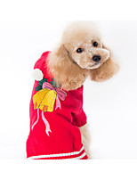 cheap -Dog Sweater Dog Clothes Christmas Christmas Red Costume For Pets