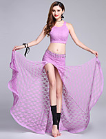 cheap -Shall We Belly Dance Outfits Women's Performance Polyester Lace Pattern/Print Split Sleeveless Dropped Skirts Tops