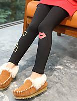 cheap -Girls' Print Pants,Cotton Fall Cute Black Dark Gray