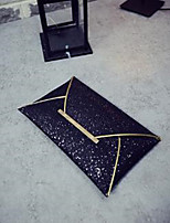 Women Bags PU Clutch Sequins for Casual All Season Gold Black Light Gold